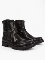 Officine Creative Black Polished Leather Boots