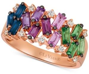 LeVian Le Vian Multi-Gemstone (1-1/3 ct. t.w.) & Nude Diamond (1/6 ct. t.w.) Ring in 14k Rose Gold