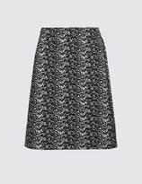 Marks and Spencer Jacquard Print A-Line Mini Skirt