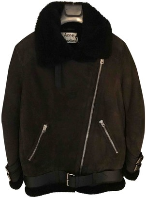 Acne Studios Grey Shearling Coat for Women