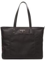 Prada Triangle-plaque Nylon Tote Bag - Womens - Black
