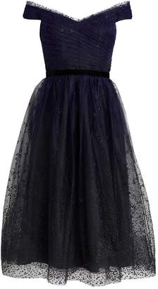 Marchesa Sequin-Embellished Tulle Dress