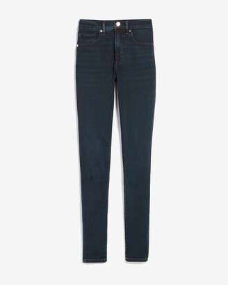 Express Mid Rise Dark Wash Skinny Jeans