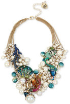 Betsey Johnson Gold-Tone Multi-Stone Sea Motif Statement Necklace