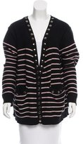 Thomas Wylde Embellished Striped Cardigan