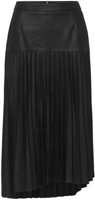 West 14th Park Avenue Pleated Skirt Black Leather