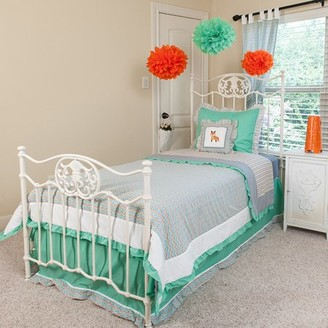 Pam Grace Creations Full/Queen Green and Gray Bedding Set