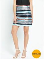 Warehouse 80s Jacquard Pelmet Skirt