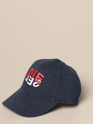 Diesel Baseball Cap In Cotton With Logo