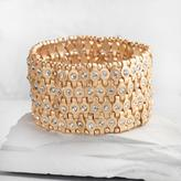 Gold Rhinestone Stretch Bracelet