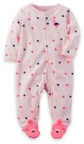 Carter's Zip-Front Flamingo Terry Footie in Pink