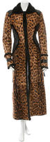 Roberto Cavalli Mink-Trimmed Ponyhair Coat