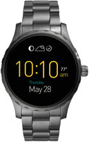 Fossil Q Marshal Touchscreen Smoke-Tone Ion-Plated Stainless Steel Bracelet Smart Watch 45mm FTW2108
