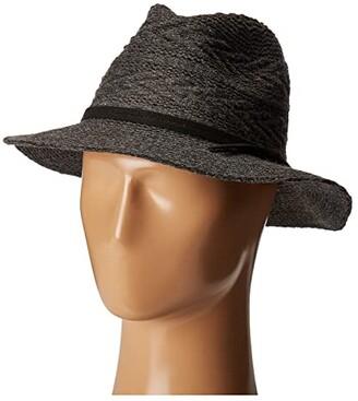 San Diego Hat Company CTH8073 Knit Pattern Fedora (Black) Fedora Hats