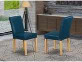 Oasis Damore Upholstered Dining Chair Charlton Home Upholstery Color: Oasis, Leg Color: Oak