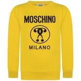Moschino MoschinoBoys Yellow Milano Print Sweater