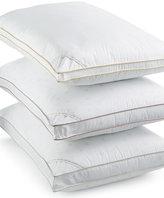 Calvin Klein Tossed Logo Print Extra Firm Down Alternative Gusset Standard Pillow, Hypoallergenic
