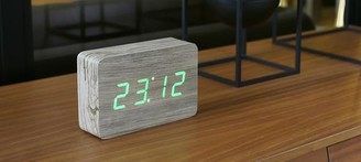 GINGKO Brick Ash Click Clock