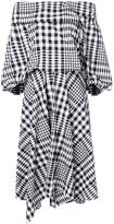 Enfold checked dress