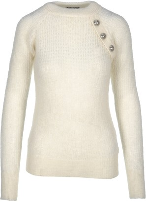 Balmain Knit Sweater With Button Details