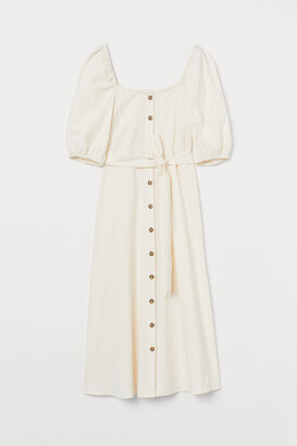H&M Creped Cotton Dress - White