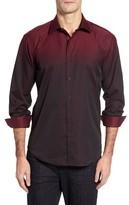 Bugatchi Men's Shaped Fit Gradient Sport Shirt