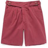 Rubinacci - Manny Washed Stretch-cotton Bermuda Shorts