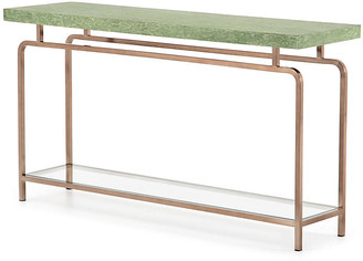 One Kings Lane Tracey Boyd Bradley Console Table - Green Marble