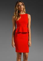 Alice + Olivia Tracey Straight Hem Peplum Dress