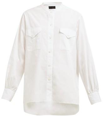 Nili Lotan Orelene Patch-pocket Shirt - Womens - White