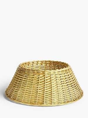 John Lewis & Partners Willow Tree Skirt, Gold