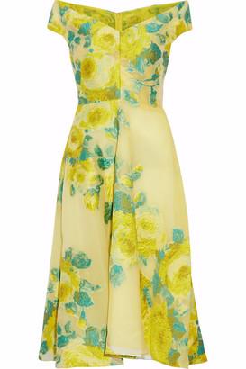 Lela Rose Off-the-shoulder Fil Coupe Organza Dress