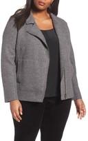 Eileen Fisher Plus Size Women's Boiled Wool Moto Jacket