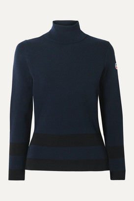 Fusalp Ubac Striped Knitted Turtleneck Sweater - Midnight blue