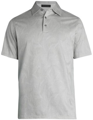 Saks Fifth Avenue COLLECTION Short-Sleeve Vines Polo