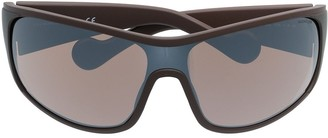 Moncler Eyewear Curved Tinted Sunglasses