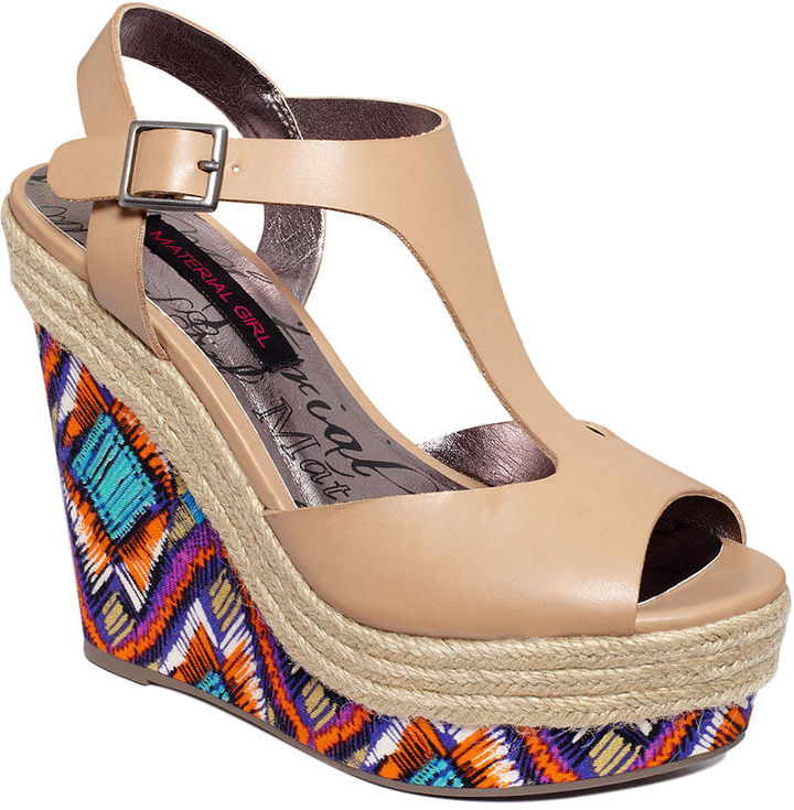 Tempted Material Girl Shoes, Platform Wedge Sandals