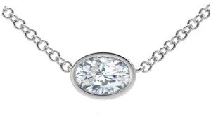 Forevermark Tribute Collection Oval Diamond (1/2 ct. t.w.) Necklace in 18k Yellow, White and Rose Gold