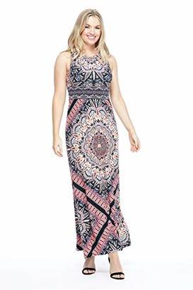 London Times Womens's Star Maxi 10 Navy Coral