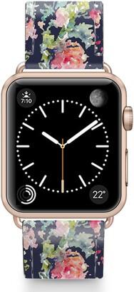 Casetify Keepsake Saffiano Faux Leather Apple Watch(R) Strap