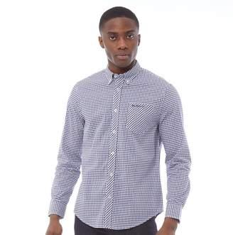 Ben Sherman Long Sleeve Gingham Shirt Blue