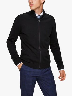 Selected Cotton Zip Cardigan