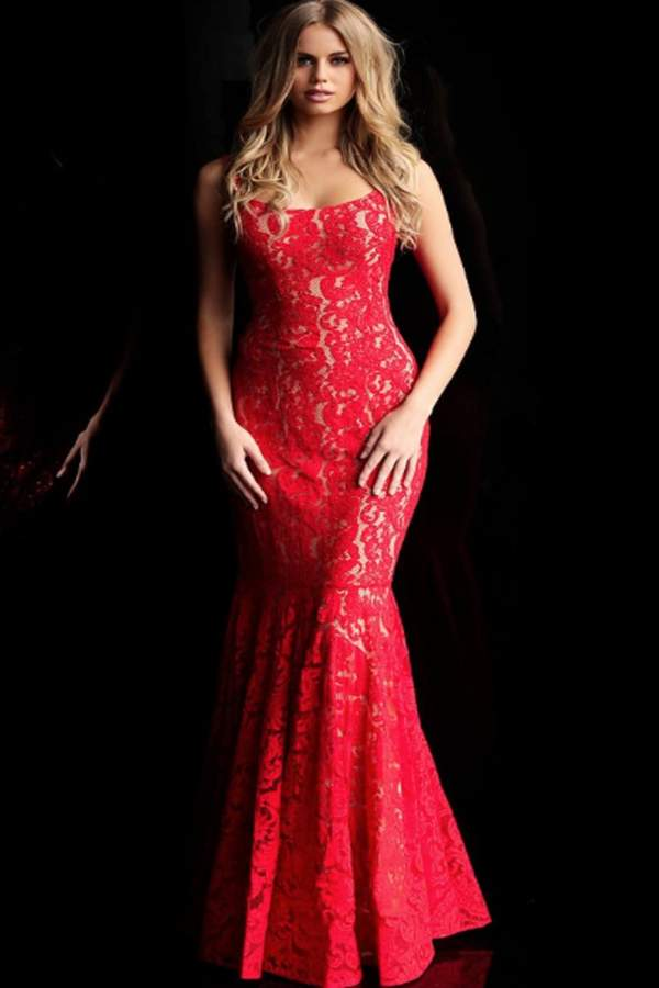 Jovani Lace Openback Gown