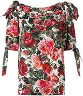 Dolce & Gabbana rose print blouse - women - Silk/Spandex/Elastane - 40