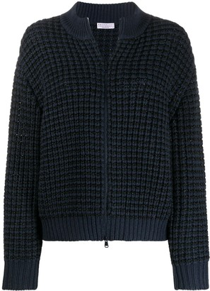 Brunello Cucinelli Textured Zipped Cardigan