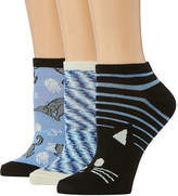 Novelty Accessories 3 Pair Low Cut Socks - Womens