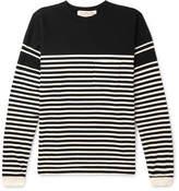 Remi Relief Striped Cotton-Jersey Sweatshirt