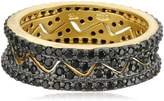 Freida Rothman Black Stone Crown Nest Ring, Size 6
