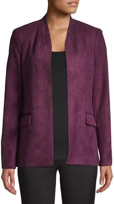 Calvin Klein Suede Open-Front Jacket