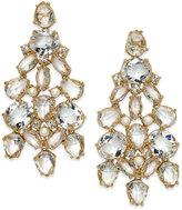 Kate Spade Gold-Tone Crystal Chandelier Earrings